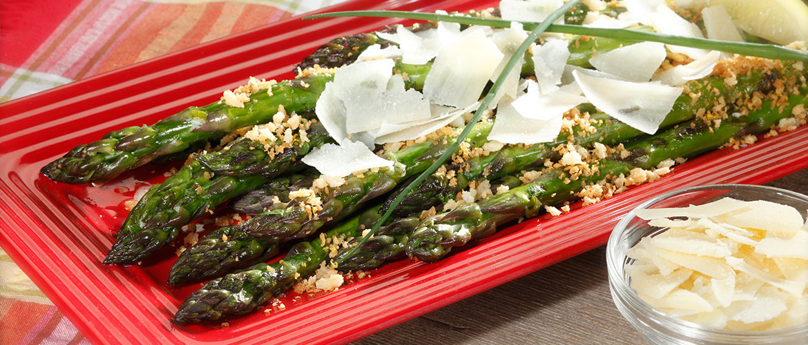 asparagus with Parmesan cheese