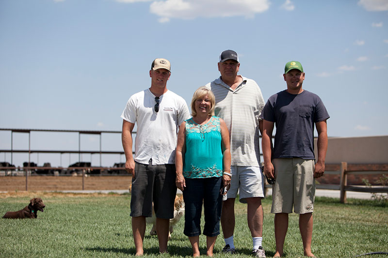 The Alger family in front of their dry lot dairy.