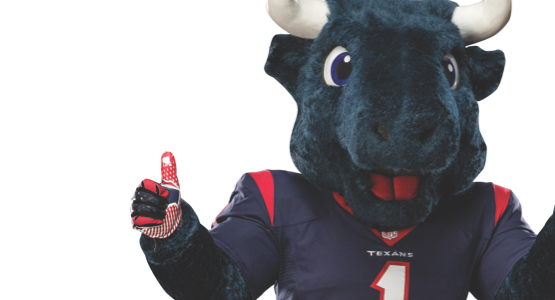 Houston Texans mascot Toro