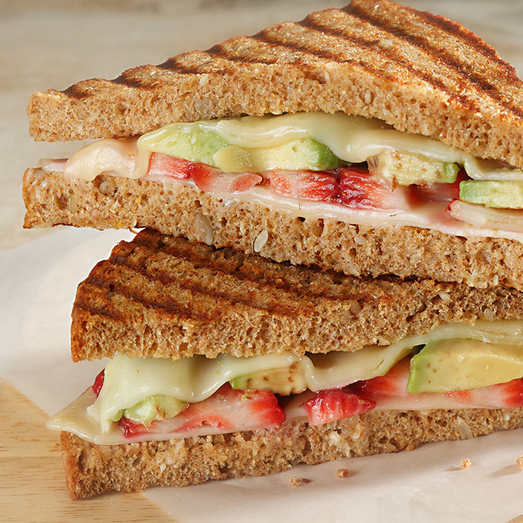 Avocado and Strawberry Grilled Cheese