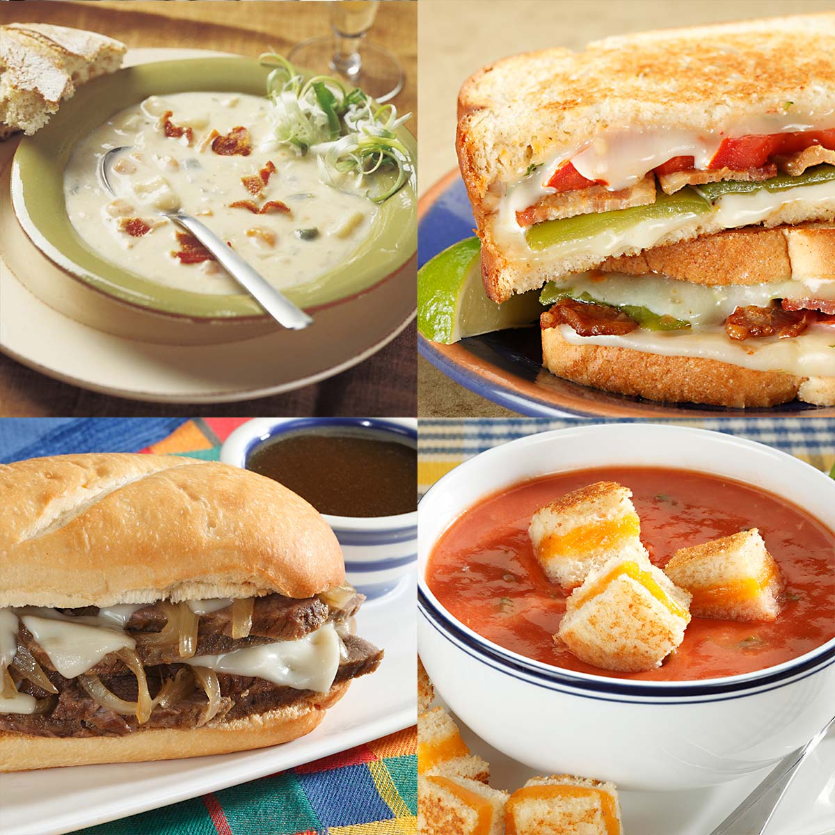 4 Irresistibly Comforting Soup and Sandwich Pairings