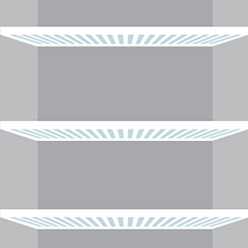 illustration of empty refrigerator shelves