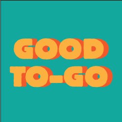 """teal background with the words """"good to-go"""""""