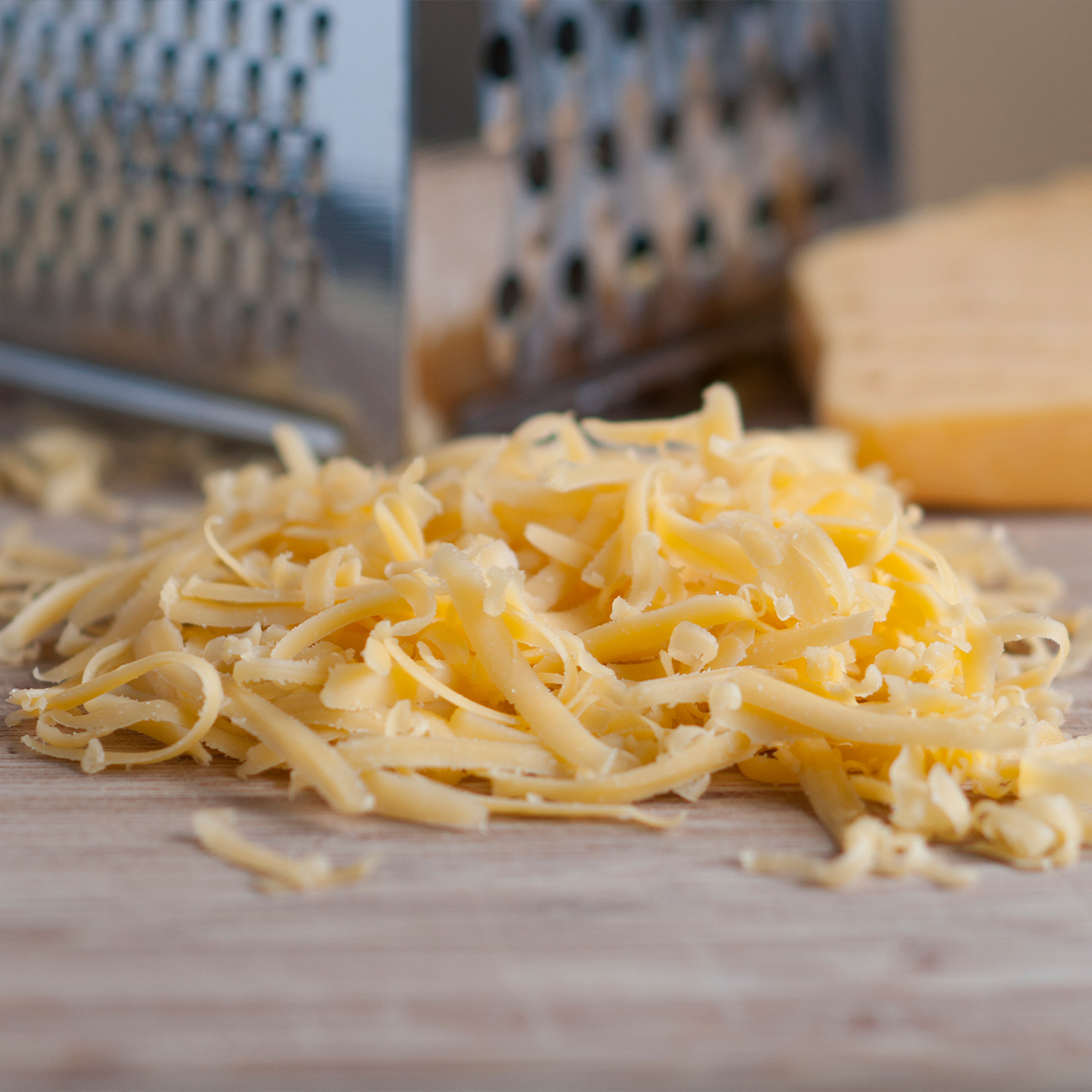 pile of shredded cheese