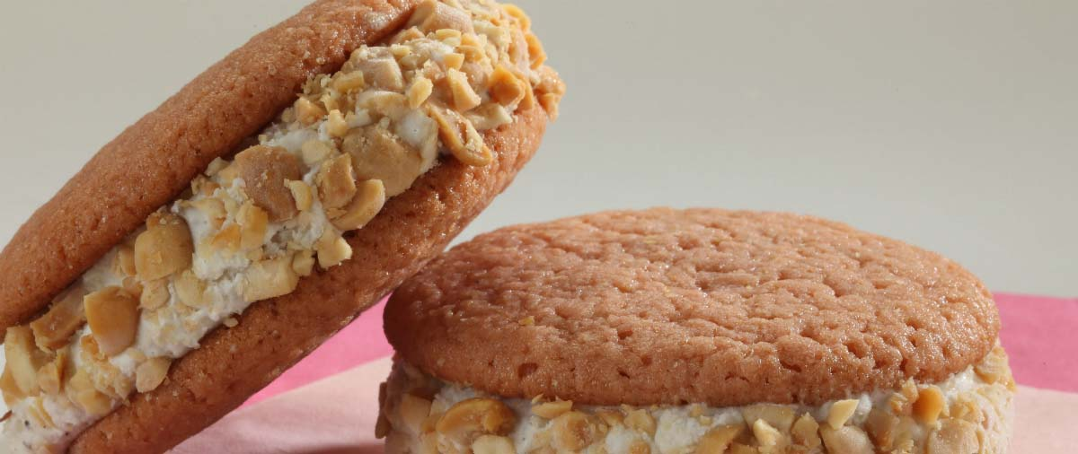 ice cream sandwiches with peanuts