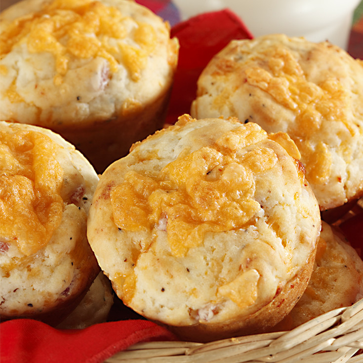 cheddar and ham muffins