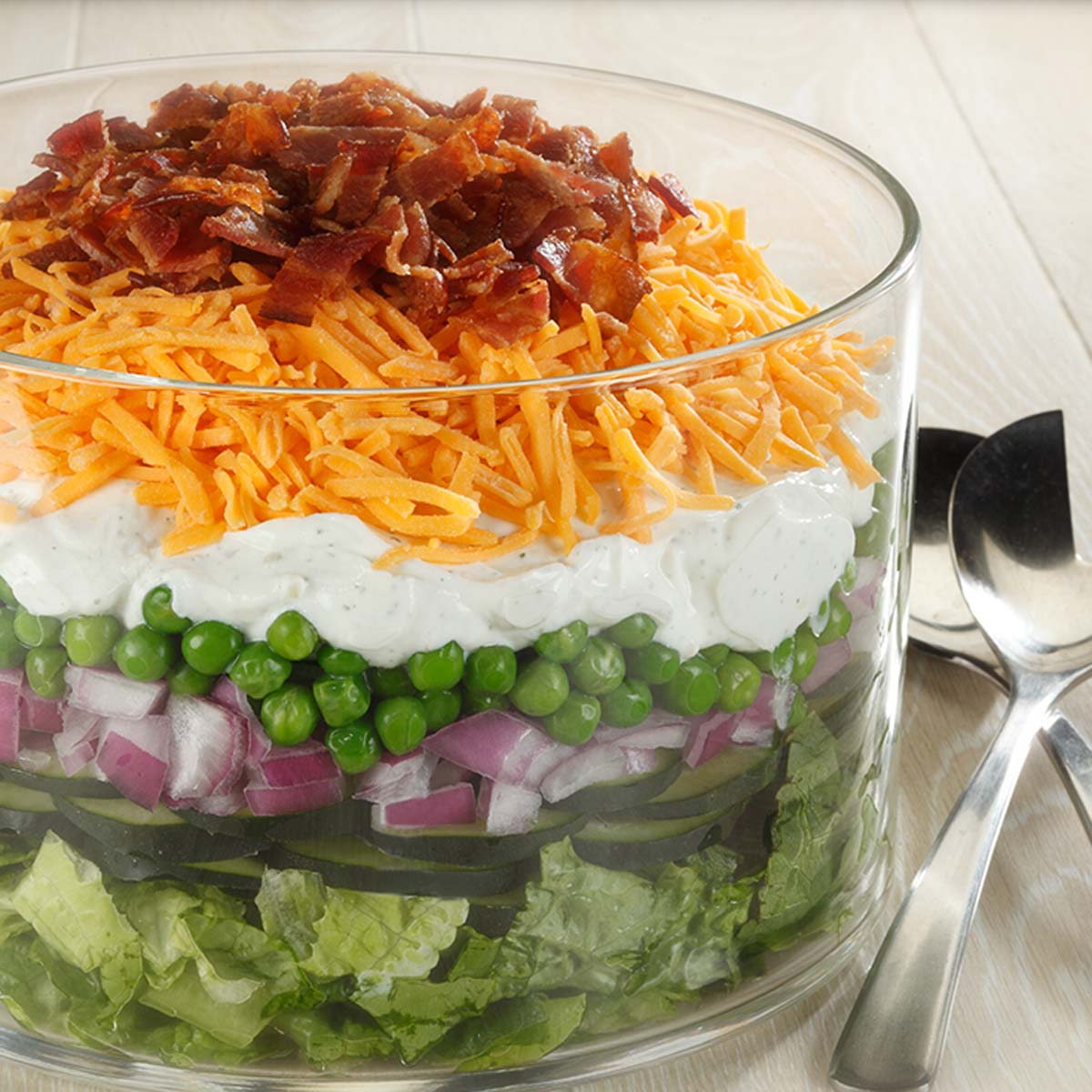 seven layer salad dairy discovery zone