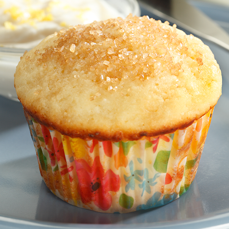 ricotta muffin with lemon spread