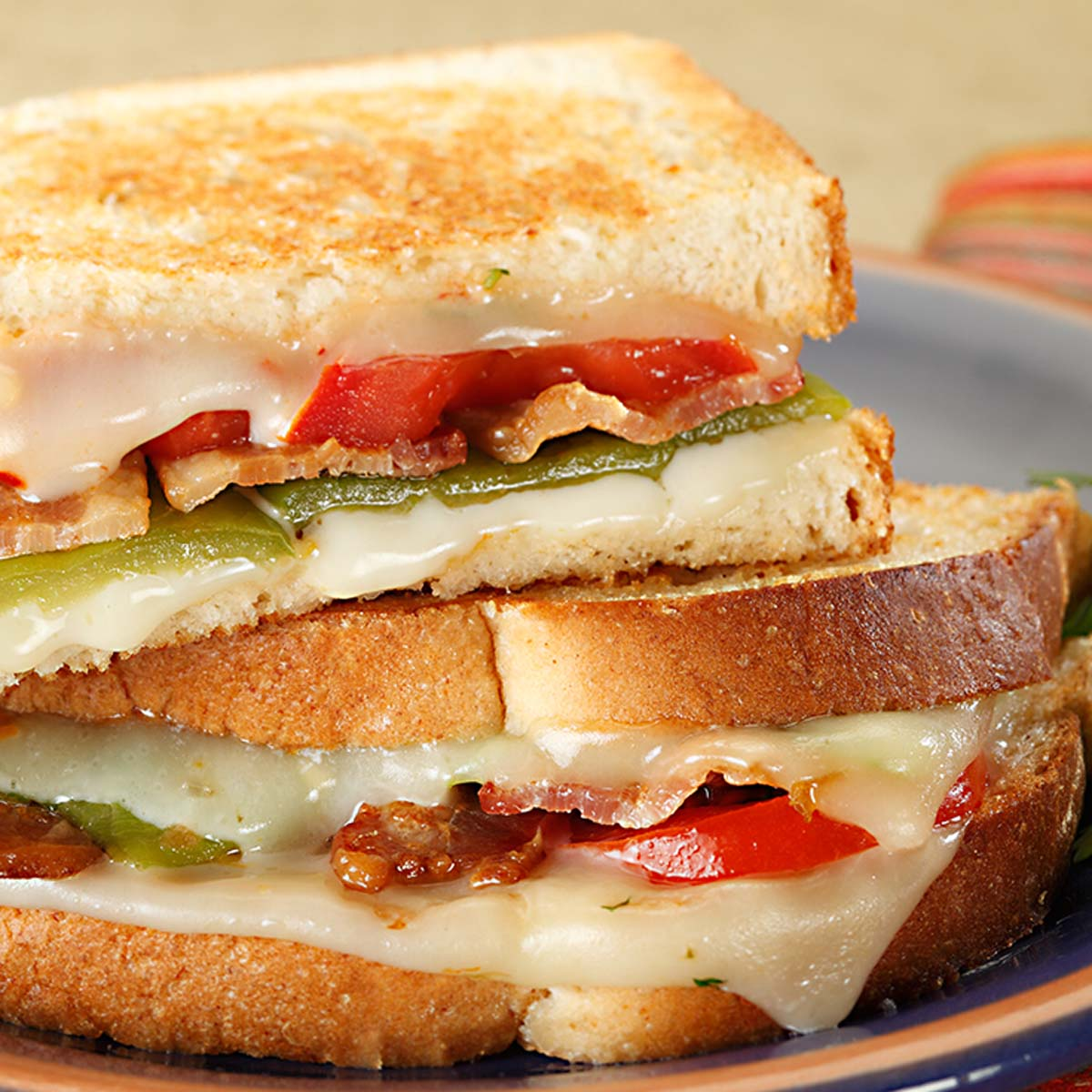 grilled cheese sandwich with southwest vegetables