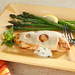 grilled chicken with herbed ricotta