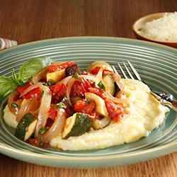 ratatouille with creamy polenta