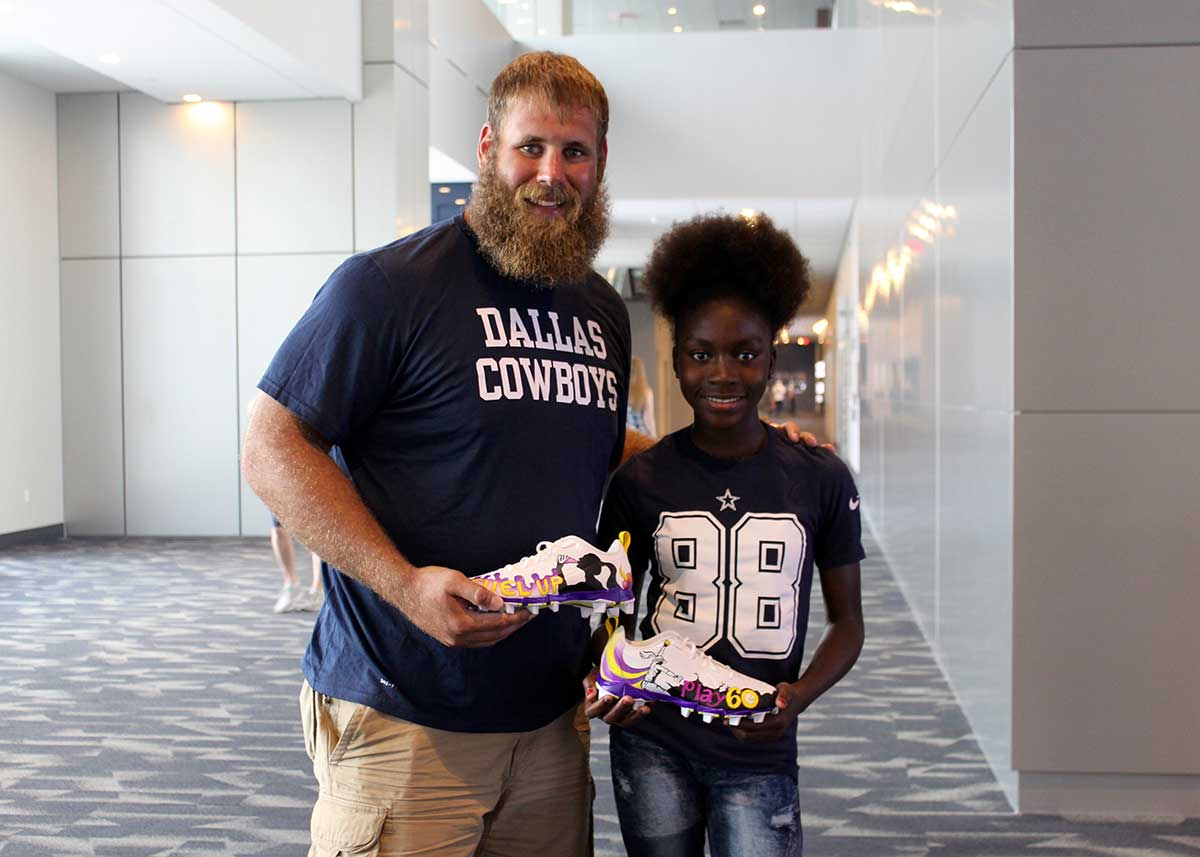 Travis Frederick Be es New Cowboys Fuel Up to Play 60 Player